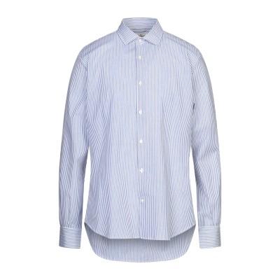 ブルックスフィールド BROOKSFIELD シャツ ブルー 42 コットン 79% / リネン 18% / ポリウレタン 3% シャツ