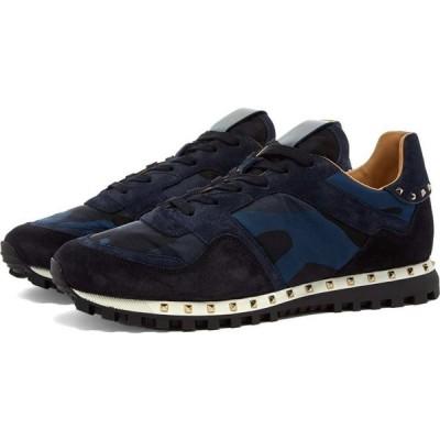 ヴァレンティノ Valentino メンズ スニーカー シューズ・靴 stud sole rockrunner sneaker Navy