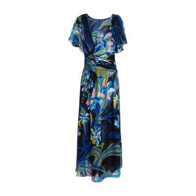 エミリオ・プッチ EMILIO PUCCI ロングワンピース&ドレス ブルー 38 シルク 100% ロングワンピース&ドレス