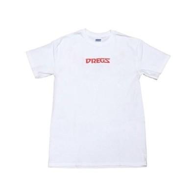 スケボー ドレッグス Tシャツ トップス DREGS ロングボード スケートボード スケボ Shirt Winged logo ホワイト tee スモール