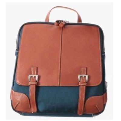 本革 リュック リュックサック ブルー/レンガ 牛革使用 日本製 No2533 人気 通勤 通学バッグ レディースバッグ バッグ 鞄 かばん