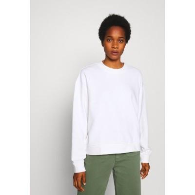 ウィークデイ パーカー・スウェットシャツ レディース アウター HUGE CROPPED SWEATSHIRT - Sweatshirt - white