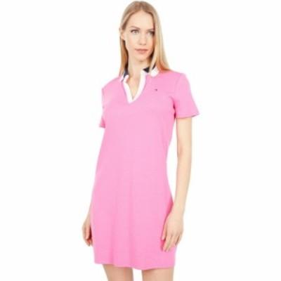 トミー ヒルフィガー Tommy Hilfiger レディース ワンピース ポロ ワンピース・ドレス Split Neck Polo Dress Dahlia Multi