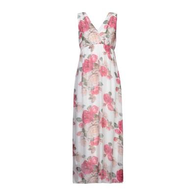 MICHELA MII ロングワンピース&ドレス フューシャ I レーヨン 70% / シルク 30% ロングワンピース&ドレス