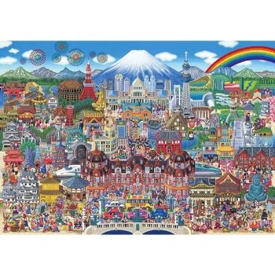 ・ジグソーパズル 300ピースジグソーパズル 日本名所大集合!(26×38cm) 93-158(ビバリー)梱60cm