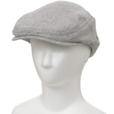 メンズ クロコダイル 帽子 カラミメッシュハンチング グレー 58cm
