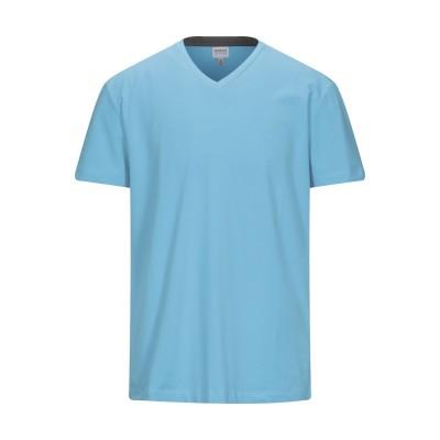 アルマーニ コレッツィオーニ ARMANI COLLEZIONI T シャツ ターコイズブルー 3XL コットン 94% / ポリウレタン 6% T