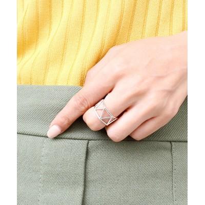 指輪 トライアングルリング シルバー925