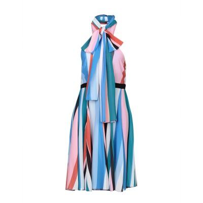 レリッシュ RELISH ミニワンピース&ドレス アジュールブルー S ポリエステル 100% ミニワンピース&ドレス