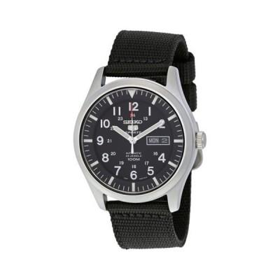 腕時計 セイコー Seiko 5 スポーツ オートマチック ブラック キャンバス メンズ 腕時計 SNZG15