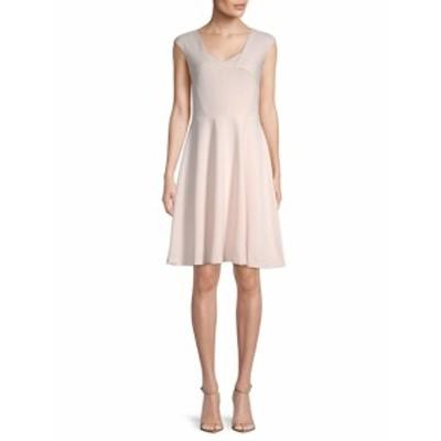 カルバンクライン レディース ワンピース Cap-Sleeve Fit-&amp-Flare Dress