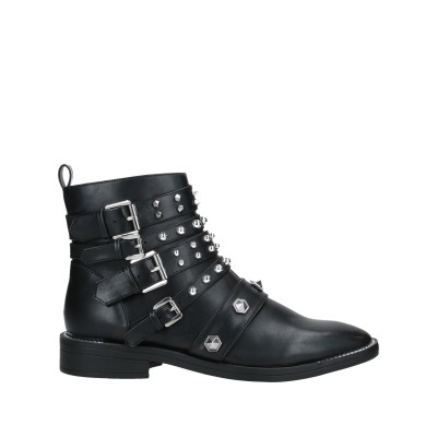 MY TWIN TWINSET ショートブーツ ブラック 39 紡績繊維 ショートブーツ