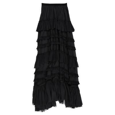 BROGNANO ロングスカート ブラック 40 コットン 72% / シルク 28% ロングスカート