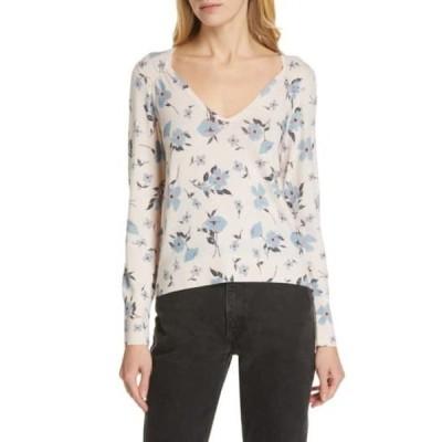 レベッカテイラー レディース ニット&セーター アウター Daniella Floral V-Neck Wool Blend Sweater NUDE COMBO