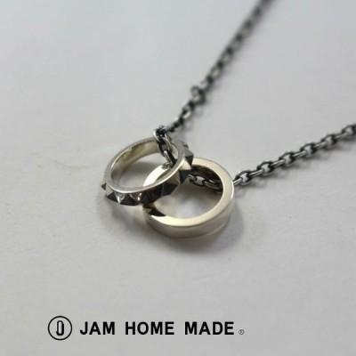 ジャムホームメイド JAM HOME MADE スタッズ ダブルラブ ベビー リングネックレス M アクセサリー メンズ レディース