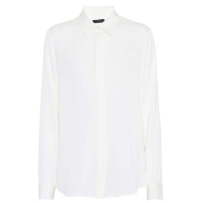 ザ ロウ The Row レディース ブラウス・シャツ トップス Petah silk shirt Ivory