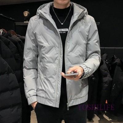 ダウンジャケット メンズ コート 40代 ダウンコート 長袖 冬服 防寒 スリム アウトドア ショット丈アウター フード付き 通勤 ビジネスコート 軽量ジャケット