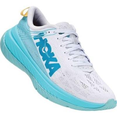 ホッカオネオネ レディース スニーカー シューズ Hoka One One Women's Carbon X Shoe White / Angel Blue