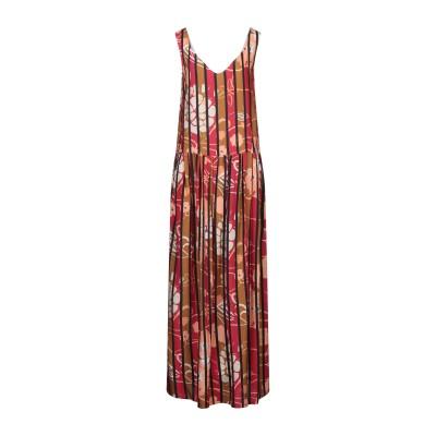 マニラ グレース MANILA GRACE ロングワンピース&ドレス ブラウン 46 レーヨン 100% ロングワンピース&ドレス