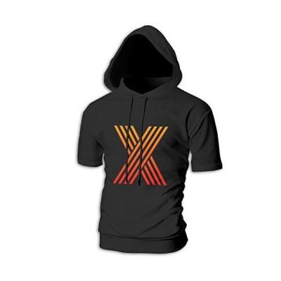 Xxxtentacion X Tシャツ シャツ ティーシャツ スウェットシャツ パーカー ストレッチ メンズ 半袖 フード付き スポ?