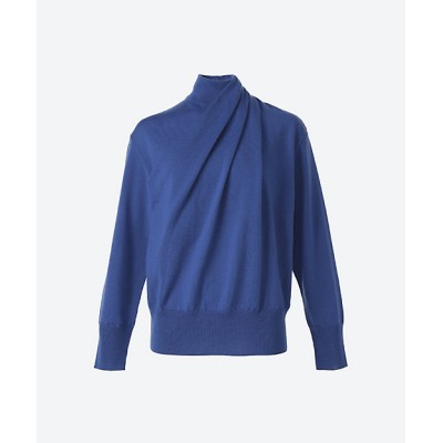 <AKIRANAKA(Women)/アキラナカ> Katia wrap-effect knit PO BL BLUE【三越伊勢丹/公式】