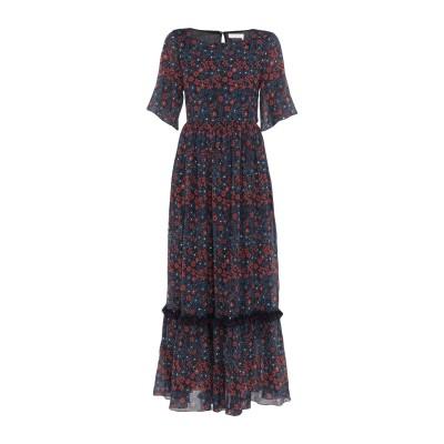 クロエ CHLOÉ ロングワンピース&ドレス ダークブルー 38 コットン 65% / シルク 35% ロングワンピース&ドレス