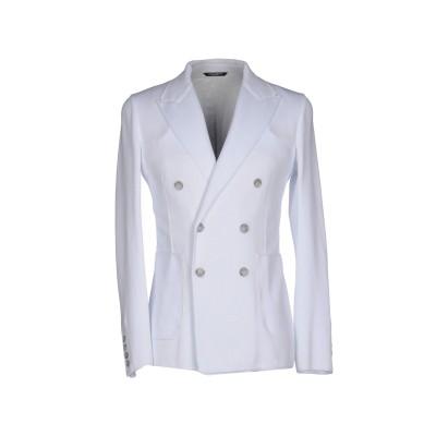 ドルチェ & ガッバーナ DOLCE & GABBANA テーラードジャケット ホワイト 44 コットン 100% テーラードジャケット