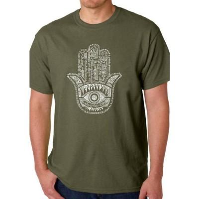 エルエーポップアート メンズ Tシャツ トップス Word Art Graphic T-Shirt - Hamsa