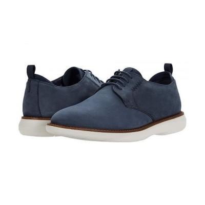 Clarks クラークス メンズ 男性用 シューズ 靴 オックスフォード 紳士靴 通勤靴 Brantin Low - Navy Nubuck