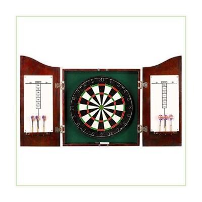 [ハサウェイ]HATHAWAY Centerpoint Solid Wood Dartboard and Cabinet Set, Dark Cherry Finish BG1041CH [並行輸入品]