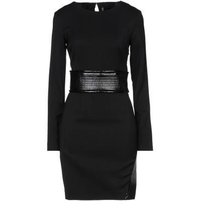 マニラ グレース MANILA GRACE ミニワンピース&ドレス ブラック 40 レーヨン 96% / ポリウレタン 4% / ポリエステル ミニ