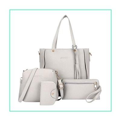 Goddessvan Woman Bag 2019 Fashion 4 Piece Shoulder Bag Messenger Bag Wallet Handbag Composite Bag Gray並行輸入品