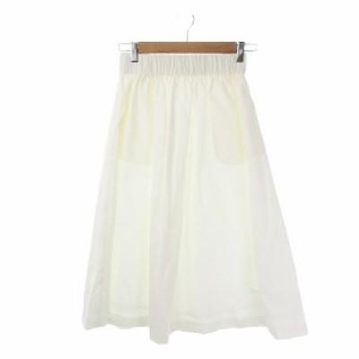 【中古】ネイ NEI スカート フレア ギャザー ロング 白 ホワイト /KI11 ☆ レディース