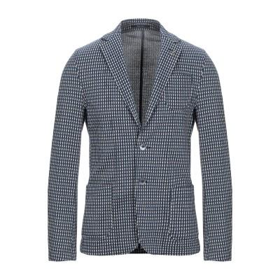 パオローニ PAOLONI テーラードジャケット ブルー 50 コットン 100% テーラードジャケット