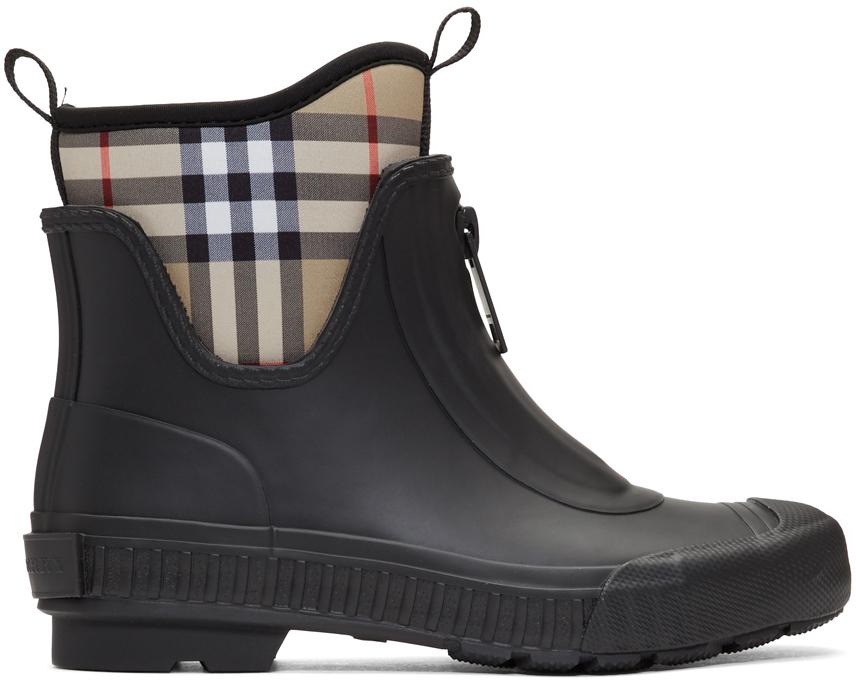 Burberry 黑色 Flinton 雨靴
