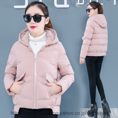 中綿コート レディース 40代 30代 ショート丈 軽い 冬服 厚手 アウター ダウン風コート 中綿ジャケット パーカー フード付き 暖かい 大きいサイズ スリム 防寒
