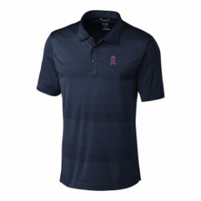 Cutter & Buck カッター アンド バック スポーツ用品  Cutter & Buck Los Angeles Angels Navy Big & Tall Crescent Polo