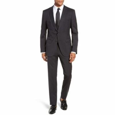 ヒューゴ ボス BOSS メンズ スーツ・ジャケット アウター Huge/Genius Trim Fit Solid Wool Suit Dark Grey
