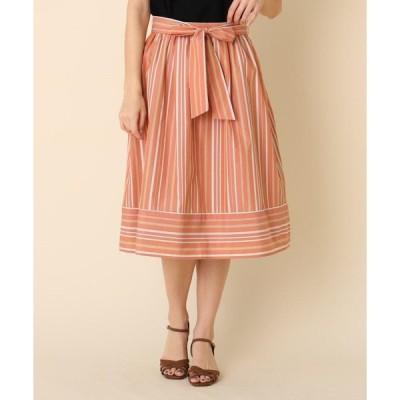 Couture Brooch / クチュールブローチ 【洗える】ランダムストライプスカート