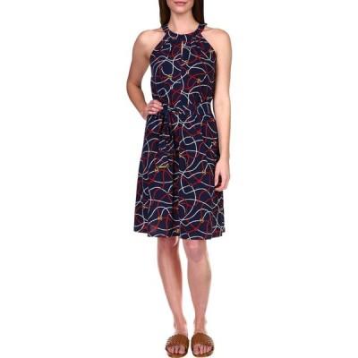 マイケル コース MICHAEL Michael Kors レディース ワンピース ワンピース・ドレス Sailor Twist Neck Dress Midnight Blue Multi