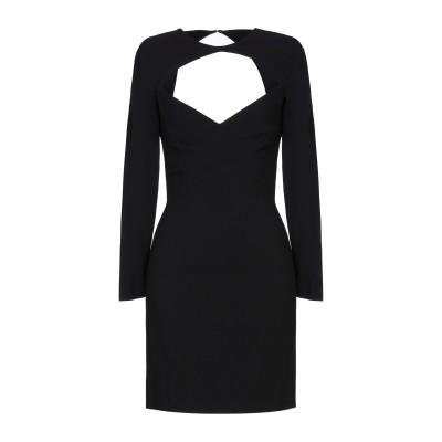 ディースクエアード DSQUARED2 ミニワンピース&ドレス ブラック 38 レーヨン 95% / ポリウレタン 5% ミニワンピース&ドレス