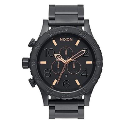 ニクソン 腕時計 メンズウォッチ Nixon Men's A083957 51-30 Black Stainless Steel Chrono Watch