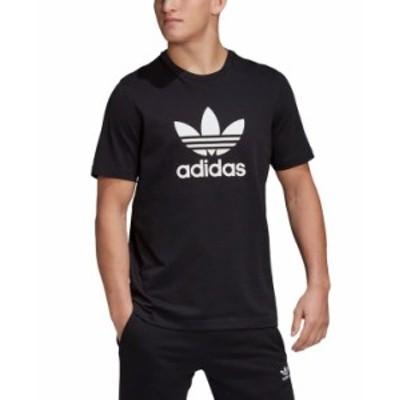 アディダス メンズ Tシャツ トップス adidas Men's Originals Trefoil Tee Black/White