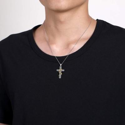 Nofade Silver 十字架 クロス ネックレス スターリング シルバー 925 金属アレルギー対応 ヘビ 蛇 ペンダント メンズ レ