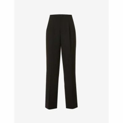 リト RITO レディース ボトムス・パンツ Wide-leg high-rise stretch-wool trousers Blk