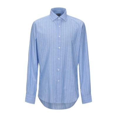 HIMON'S シャツ アジュールブルー 41 コットン 80% / 麻 20% シャツ