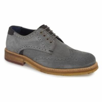 テッドベーカー 革靴・ビジネスシューズ Brycces Wingtip Oxford Grey Suede