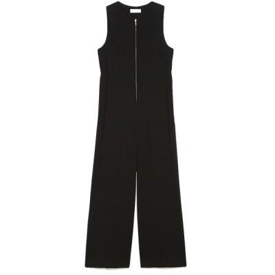 【スタイリング】 ジップアップ ドレス オールインワン レディース ブラック 1 styling/