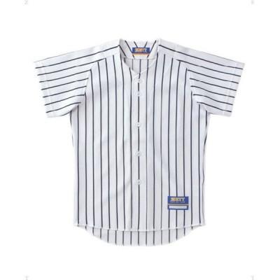 (ZETT/ゼット)ジュニアストライプメッシュユニフォームシャツ/ ホワイト系2