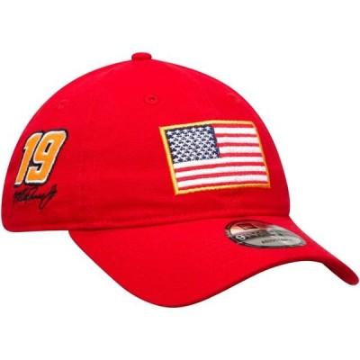 ユニセックス スポーツリーグ モータースポーツ Martin Truex Jr New Era USA Flag Salutes 9TWENTY Adjustable Hat - Scarlet - OSFA